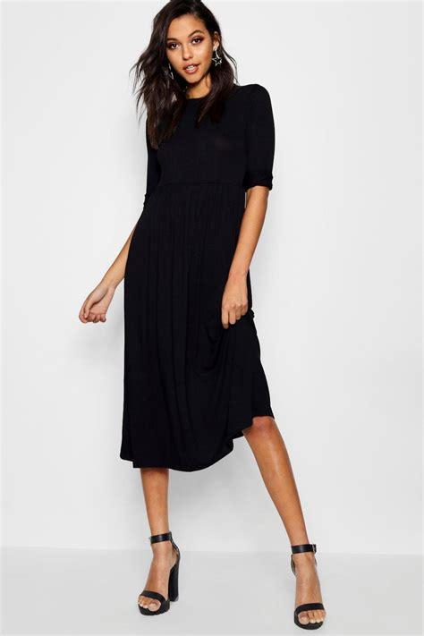 Sleeved Midi Dress midi dress mid length pencil dresses at boohoo