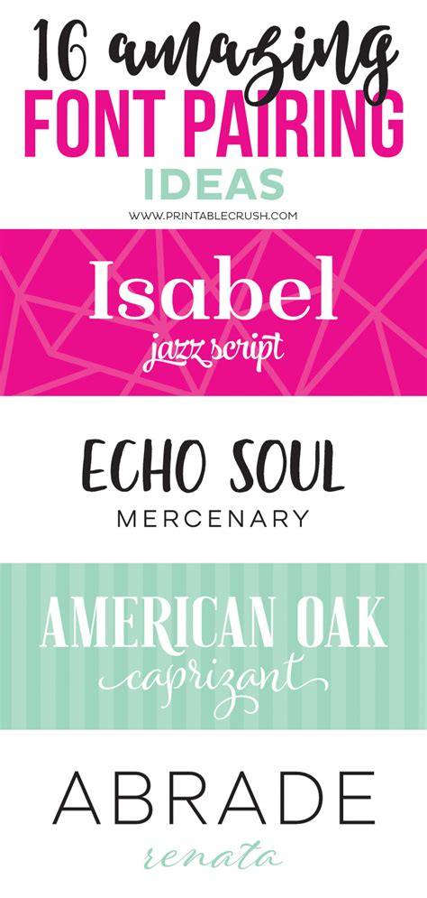 decorative font pairing 16 amazing font pairing ideas for designers printable crush
