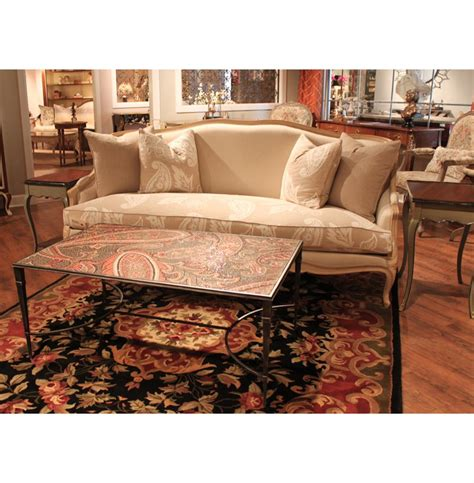 paisley couches chambery french country beige ivory paisley upholstered