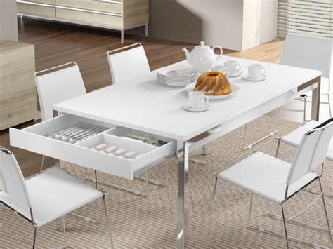 lade da tavolo moderne design tavolo da pranzo gunnar 4 coperti 2 cassetti