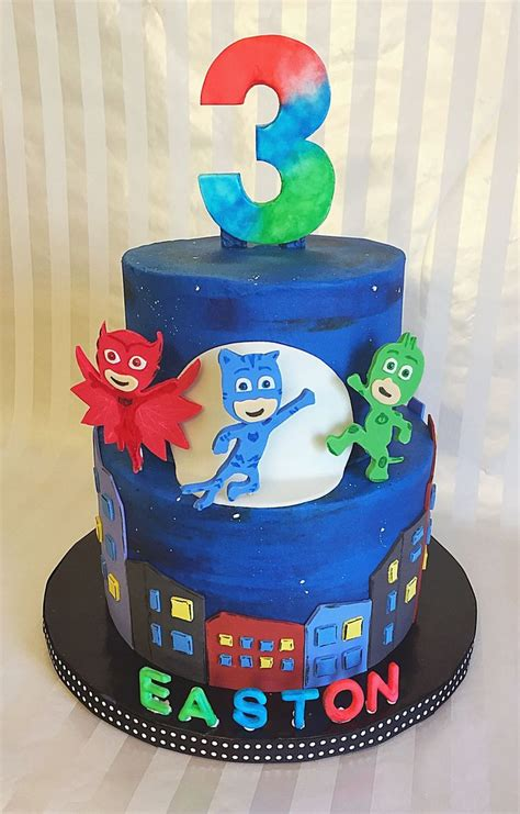 Pj Mask  Ee  Birthday Ee   Cake Sweet Lias Cakes Treats In