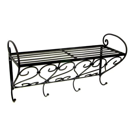 china cheap iron wall rack shelf with hooks shelves for