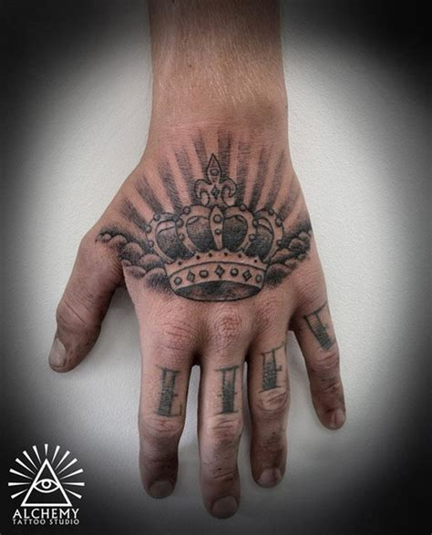 hand tattoo designs for guys 48 crown ideas we pretty designs