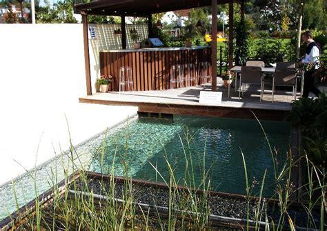 swimmingpool für garten idee mediterran terrasse