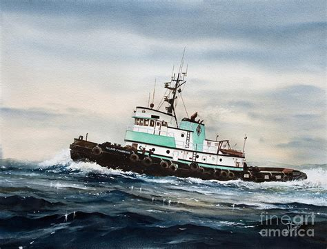 tugboat painting tugboat island chion painting by james williamson