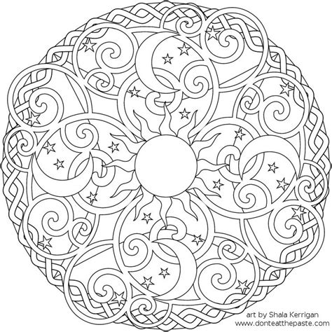 free coloring pages abstract art mandalas coloring pages