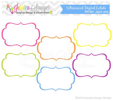 printable art tags instant download whimsical labels tag clipart printable