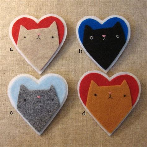 Handmade Felt Craft Patterns - best 25 felt cat ideas on cat pattern felt