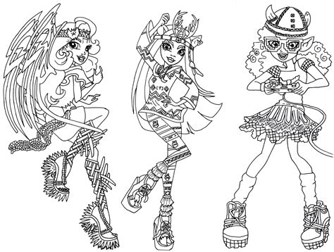 coloring pages for monster high dolls images