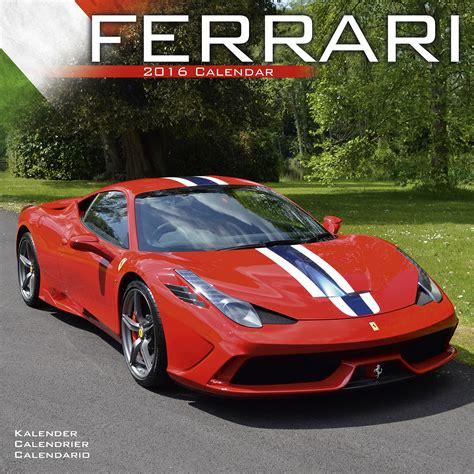 Ferrari Kalender by Ferrari Wall Calendar 2016