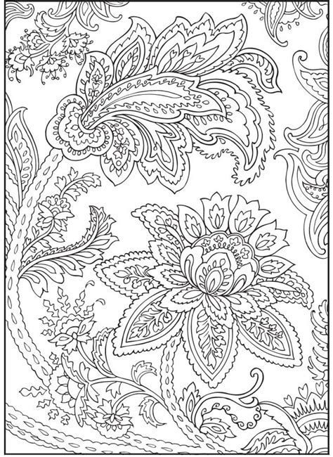 detailed coloring pages for adults flowers paisley flowers abstract doodle coloring pages colouring