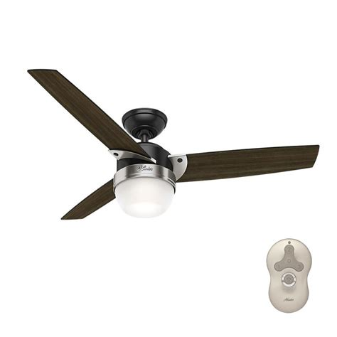 matte black ceiling fan with light hunter flare 48 in led indoor matte black ceiling fan