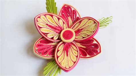 quilling tutorial advanced 3d quilled flower quilled flower advance quilling my