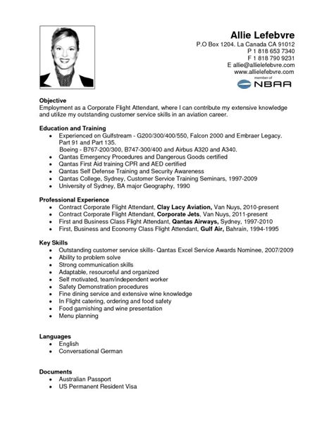 Air Canada Flight Attendant Sle Resume by Flight Attendant Career Objective 28 Images Flight Attendant Resume Exle Free Templates