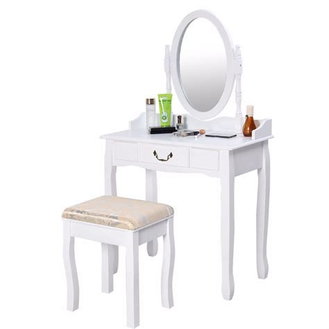 vanity table jewelry makeup desk bench dresser w stool