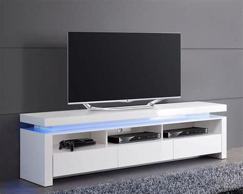 Meuble Tv Etagere 723 by Meuble Tv Blanc Laqu 233 Lumineux 224 3 Tiroirs Tvs Design