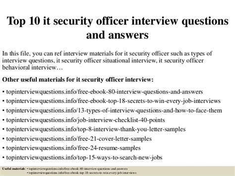 top 10 it security officer questions and answers