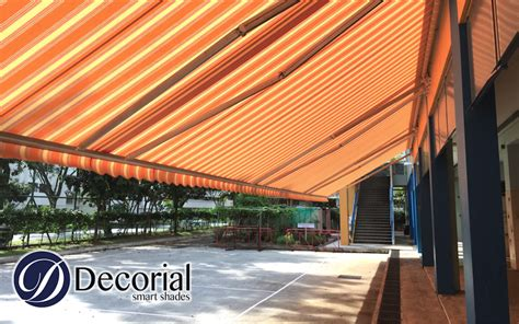 awning singapore decorial fabric replacement for giant arm retractable awning in singapore renowned