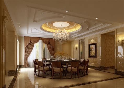 Dining Room Ceiling Decor Plaster Ceiling And Marble Flooring For Dining Room