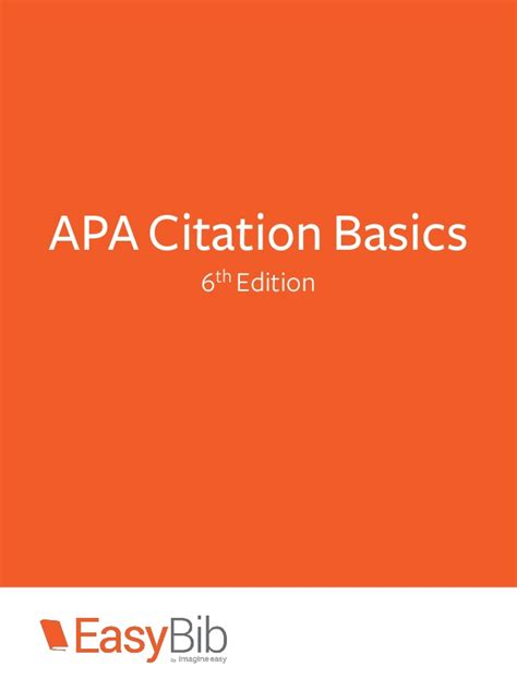 apa format basics apa citation basics 6th edition