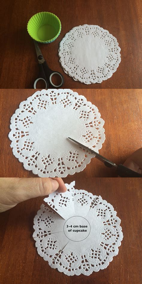 How To Make A Paper Cupcake - diy doily cupcake liners be a