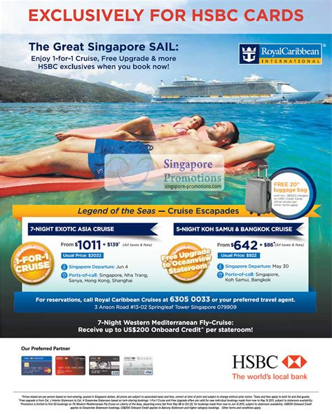 Royal Caribbean Gift Card Discount - hsbc royal caribbean 20 apr 2011 187 hsbc royal caribbean international 1 for 1 cruise
