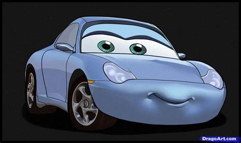 cars sally how to draw sally step by step disney characters