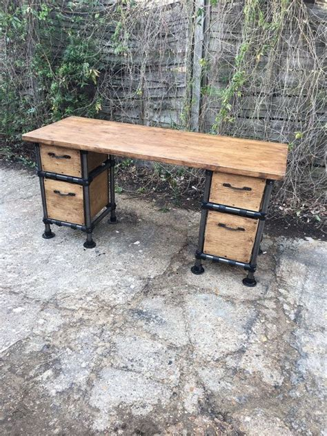 industrial desk with drawers vintage industrial steunk gas pipe desk with by