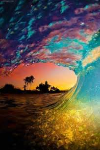 colorful waves colorful sunset wave pictures photos and images for