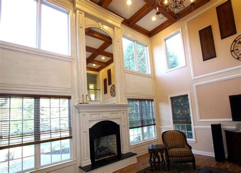 two story fireplace fireplace mantle and over mantle 2 story family room yelp