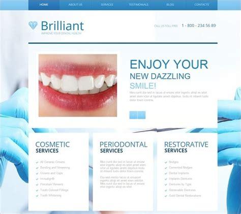 Top Dental Website Templates For Your Medical Center Dentist Website Template