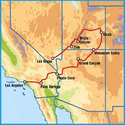 national parks in arizona map fly drive tour of the national parks of the west with