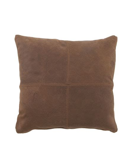 Brown Leather Pillows by Massoud Leather Pillows