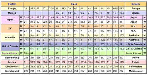 shoe chart conversion shoe conversion chart search fashion