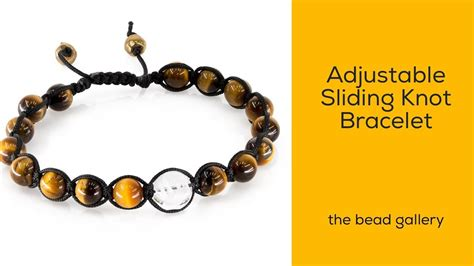 the bead gallery adjustable sliding knot bracelet feng shui style at the