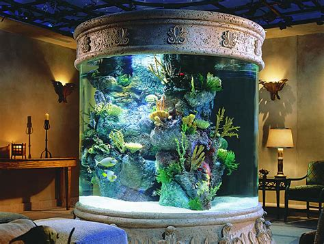 Home Aquarium Decorations Luring Interior Living Room Decoration Idea With Round