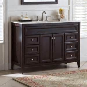 St Paul Bathroom Vanity St Paul Brisbane 48 5 In Vanity In Chocolate With Colorpoint Vanity Top In Home Colors
