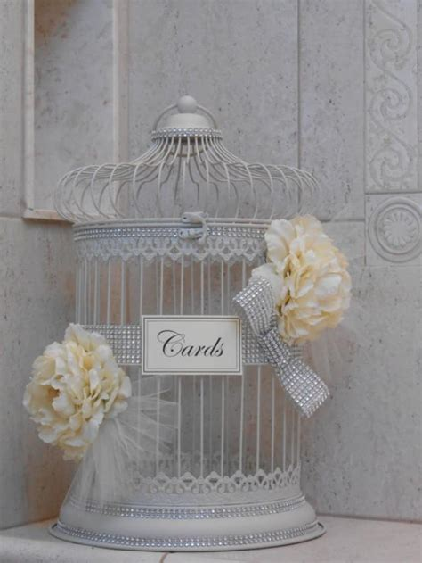 Elegant Birdcage Wedding Card Holder / Sparkle Birdcage
