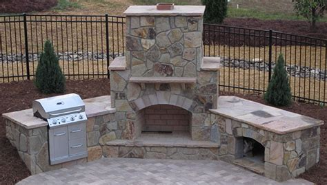 easy affordable outdoor fireplace design plans pro