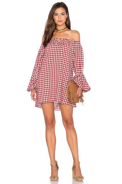capulet shoulderless long sleeve dress lyst