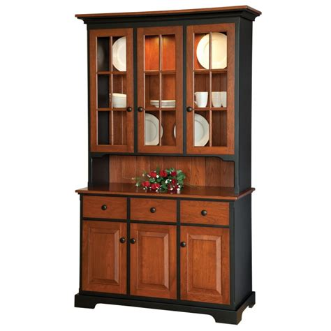 Lower Kitchen Cabinets Shaker Small 3 Door Hutch Country Lane Furniture