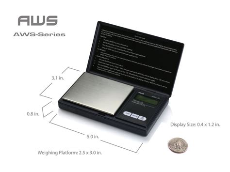 american weigh scales aws 1kg blk signature series black