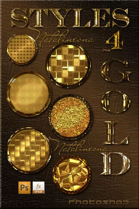 photoshop gold styles gold bright styles for photoshop 4 by natalivesna on