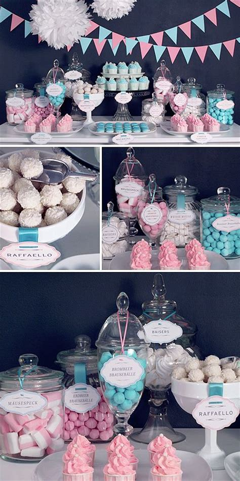 southern blue celebrations pink candy dessert tables