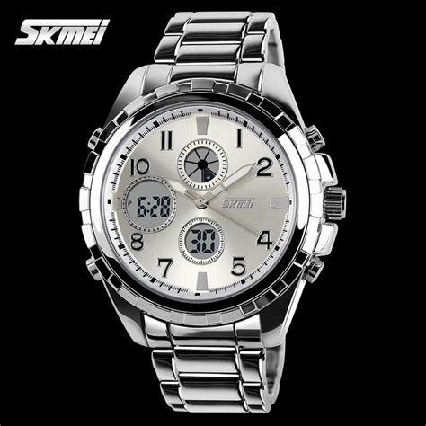 Jam Tangan Skmei 1155 Waterproof Digital Analog 100 Original Murah skmei jam tangan analog digital pria ad1021 silver jakartanotebook