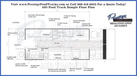 food truck floor plan custom food truck floor plan sles prestige custom