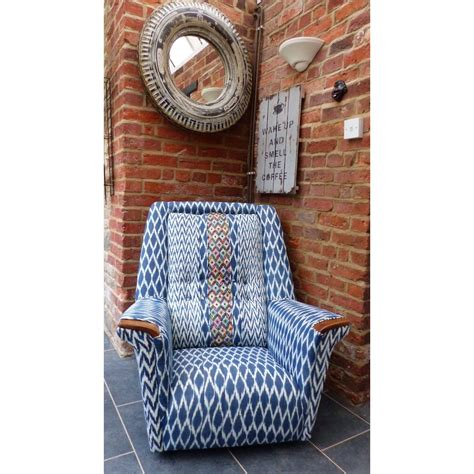 retro armchairs retro armchair blue fabric material high end luxury seating