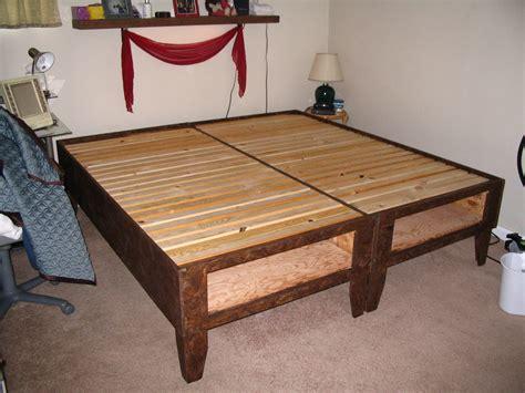 diy bed  storage