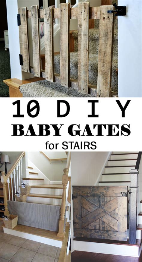 Top Of Stairs Banister Baby Gate 10 Diy Baby Gates For Stairs
