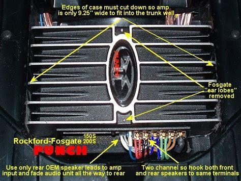 100 rockford fosgate punch 150 wiring diagram